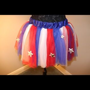 PATRIOTIC RED, WHITE, AND BLUE TUTU WITH STARS